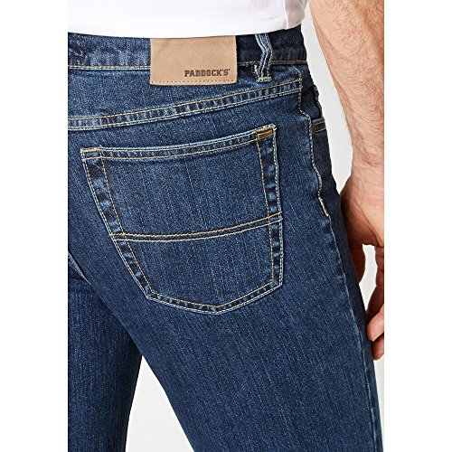 Paddock`s Herren Jeans Ranger - Slim Fit - Blau - Dark Blue Stone, Größe:W 38 L 36;Farbe:Dark Blue Stone (4480)