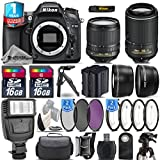 Holiday Saving Bundle for D7100 DSLR Camera + 18-105mm VR Lens + 55-200mm VR II Lens + 1yr Extended Warranty + Flash + 2 Of Ultra Fast 16GB Class 10 + 4PC Macro Kit Set - International Version