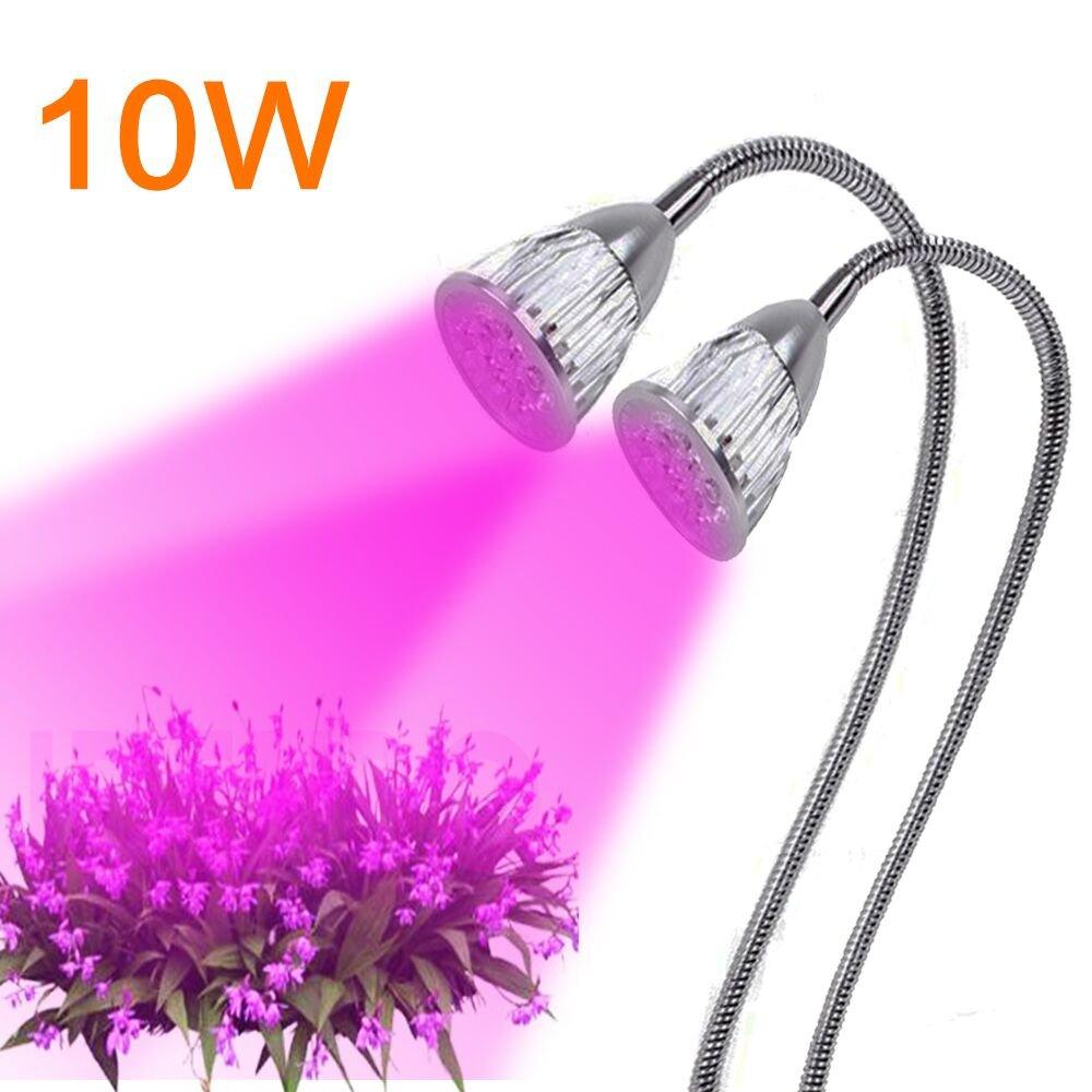 Top-Uking 10W Pflanzenlampe Hydroponic Plant Desk Pflanzen Lampen LED Pflanzenleuchte mit 360 Grad einstellbar Flexible Gooseneck für Büro Haus Garten Aquatische Pflanzen Blumen (Typ1-10W)