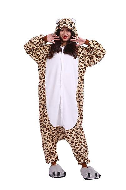 Hstyle Adulto Mamelucos De Dibujos Animados Kigurumi Pijamas Ropa De Dormir Unisex Animal Trajes Cosplay De Leopardo, Oso: Amazon.es: Ropa y accesorios