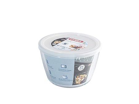 Pyrex Cook&Freeze Recipiente Redondo con Tapa, 16cm-1,6L, Vidrio ...