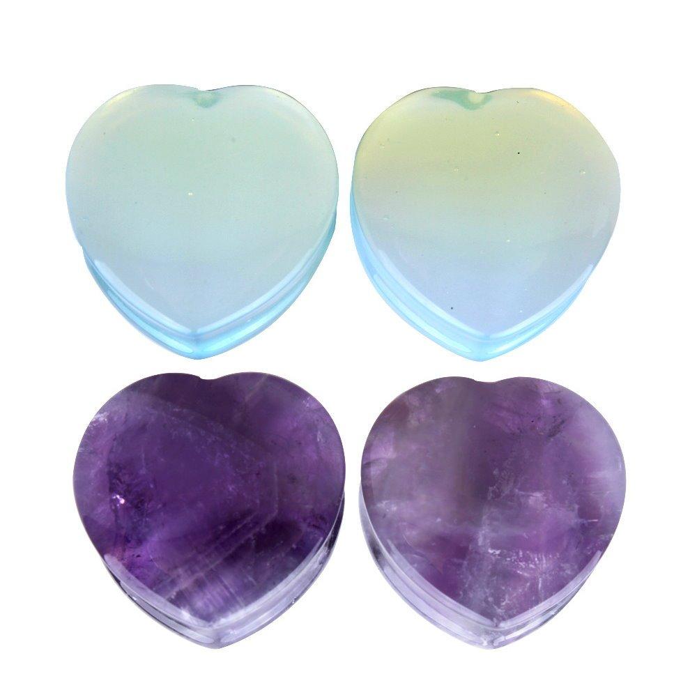 Kokoma Love Heart Ear Plugs (Plug gauge=14mm(9/16''))