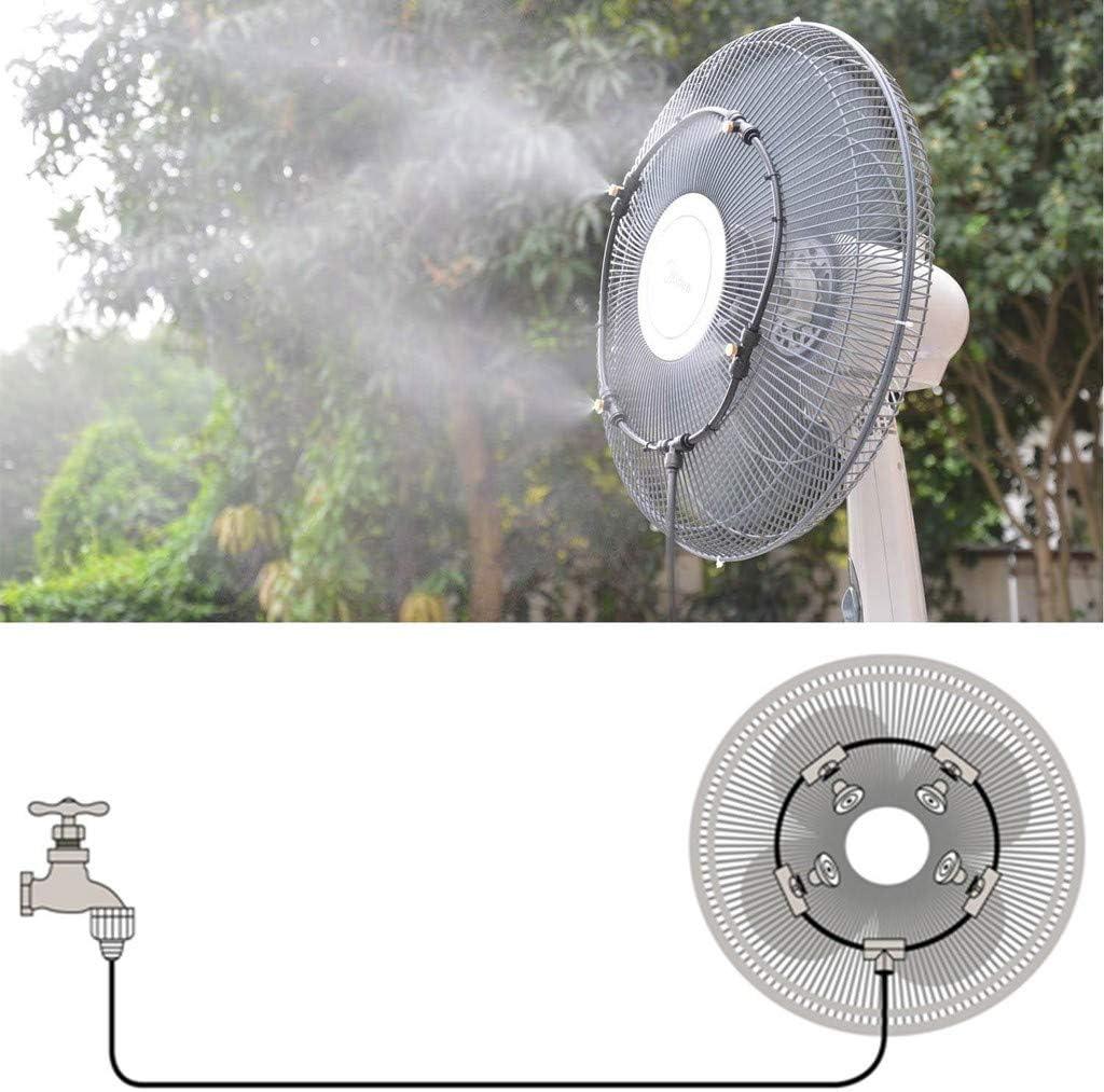 Surobayuusaku Fan Cooler Water Cooling Patio Mist Spray Irrigation System Watering Kit
