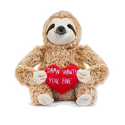Jannyshop Perezoso Oso Muñeco de Peluche Lindo Divertido Día de San Valentín Regalo del Día de