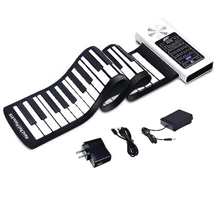 Musical Toy Instruments Digital Roll Up Keyboard Piano USB MIDI