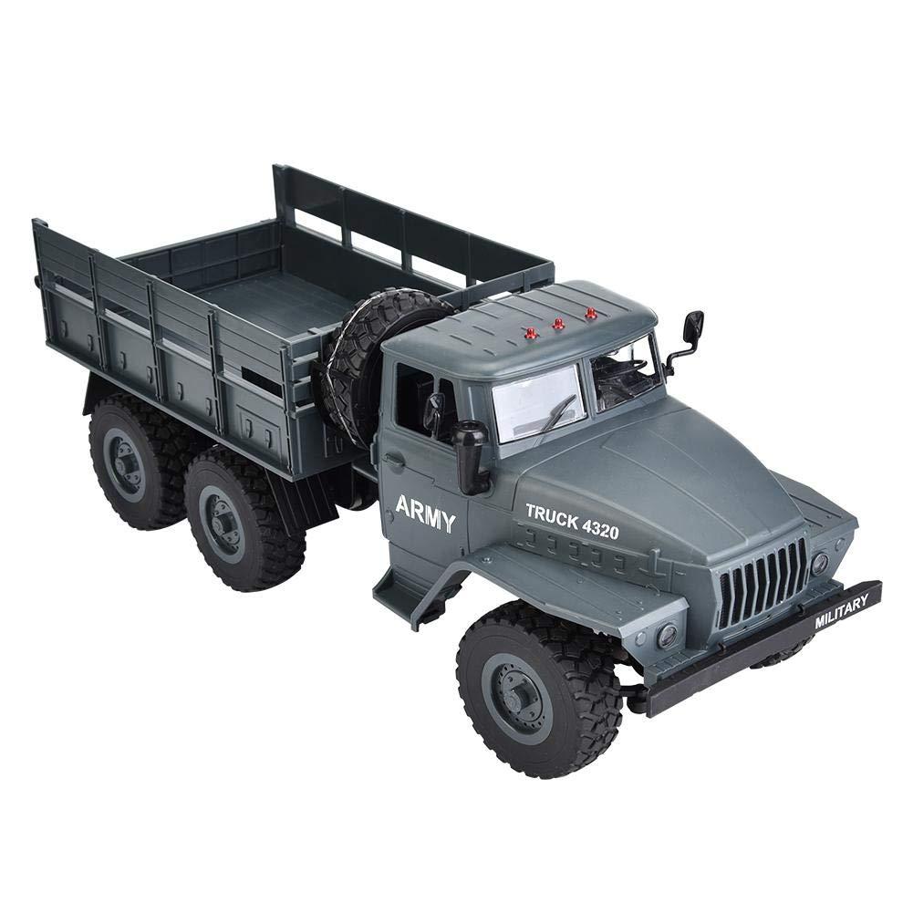 Dilwe Camion Militare RC, 2.4G Camion Telecomandato 1 12 Giocattolo Camion Fuoristrada 6WD Regalo per Bambini Adulti(verde)