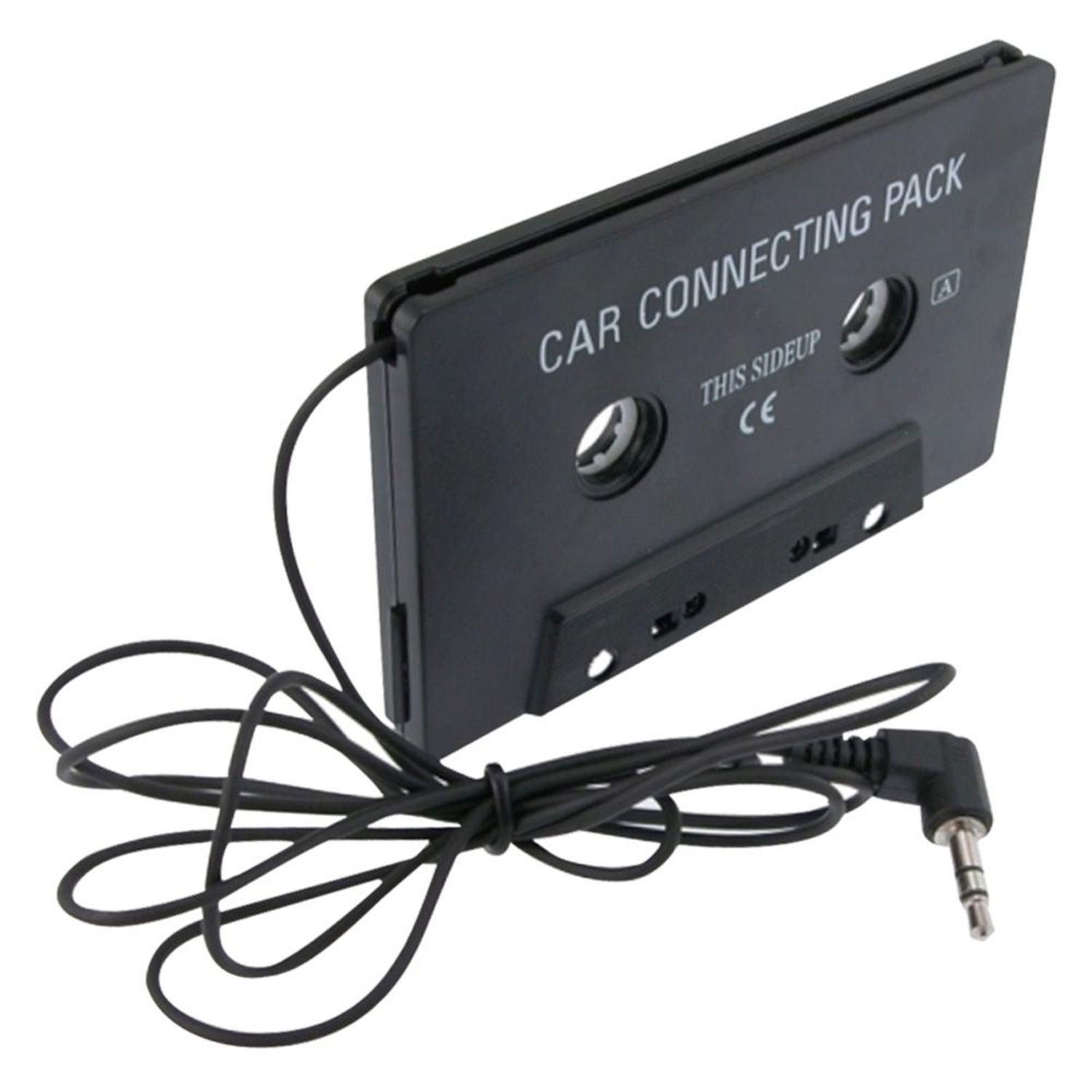 Insten Compatible With iPad Mini 3 / iPad Air 2 / Apple iPod Nano 7 (7th Generation) Black Car Audio Cassette Adapter eForCity 814511