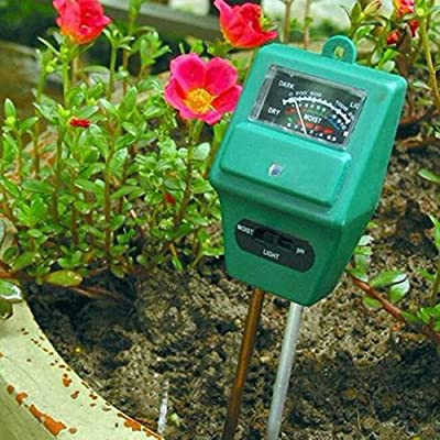 1 Pc Attractive Popular 3in1 pH Soil Tester Water Moisture Garden Test Tool Hydroponics Analyzer Color Green