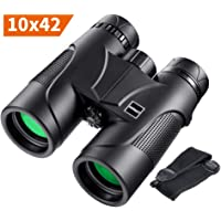 HUTACT Binoculars for Adults Compact, 10X42 Professional HD Binoculars with BAK4 Prism and FMC Coated Lens, for Hunting, Bird Watching, Waterproof and Dustproof, with Strap and Carrying Case
