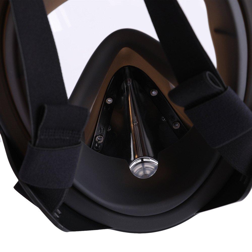 CapsA Full Face Snorkel Mask for Kids Adults Snorkel Mask Diving GogglesAnti-Fog Anti-Leak Snorkeling Set (H, L/XL) by CapsA