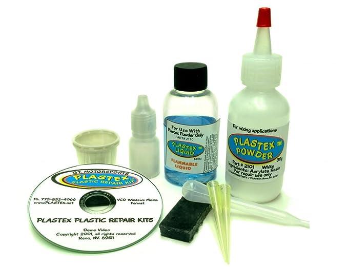 Plastex Plastic Repair Kit - Easily glue, repair or remake broken plastic   (Black)