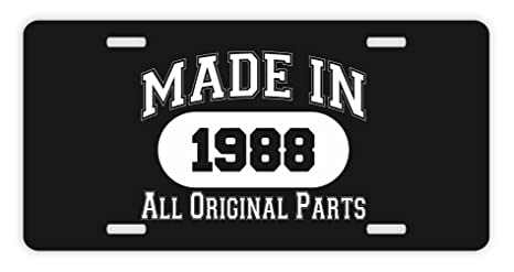 ThisWear 30th Birthday Gifts Made 1988 All Original Parts Funny Men Novelty License