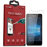 iCarez [Tempered Glass] Premium Screen Protector for Microsoft Lumia 950 XL Easy Install with Lifetime Replacement Warranty - 1 Pack