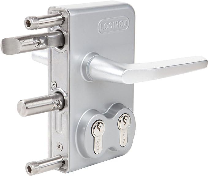 Locinox LDKZ - Cerradura de puerta corredera, color plateado: Amazon.es: Bricolaje y herramientas