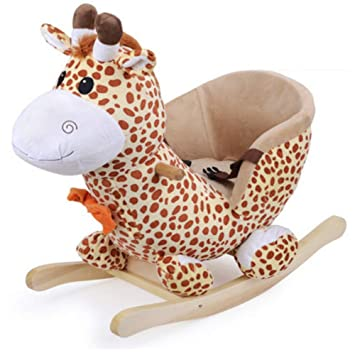 Holzspielzeug Schaukel-Giraffe
