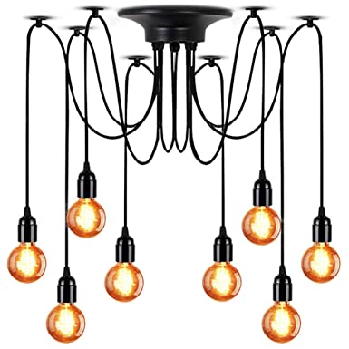 FadimiKoo Plug in Pendant Light E26 E27 Industrial Hanging Pendant Lights Vintage Hanging Light Fixture with 13.12ft Cord On Off Switch 2 Pack