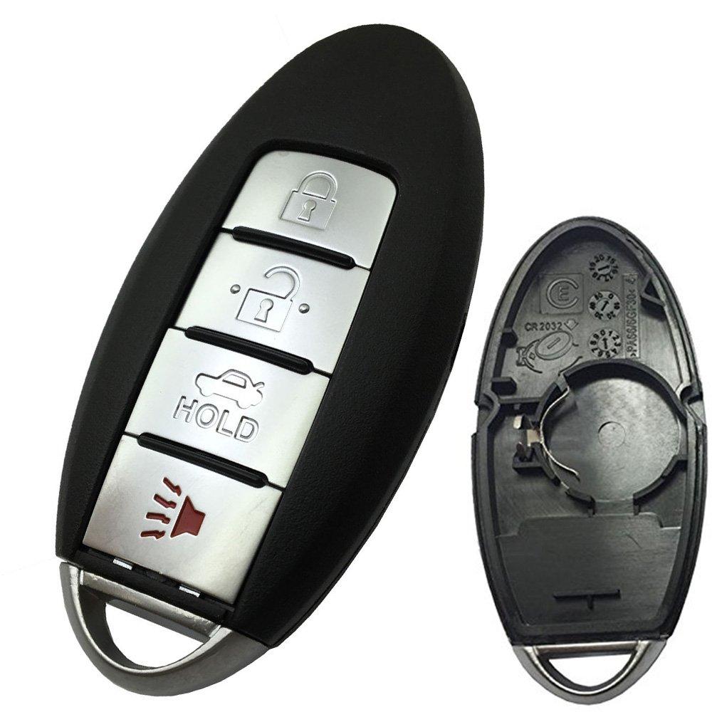 Horande 4ボタン交換キーカードfor InfinitiスマートリモートコントロールキーカバーケースNissanスマートエントリキーフォブ B01N90S12D