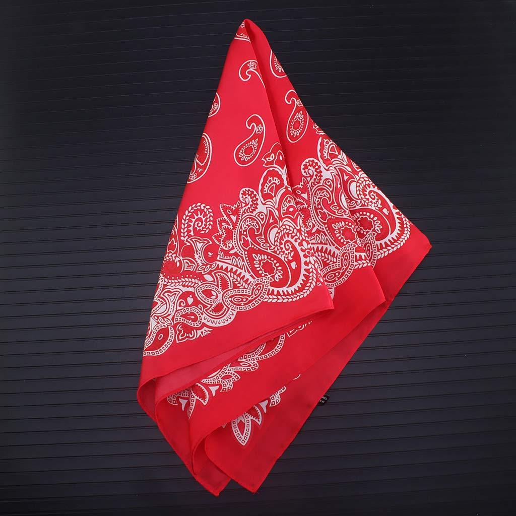 YOUSIKE Paisley Floral Head Scarf Women Men Imitation Silk Neckerchief Sports