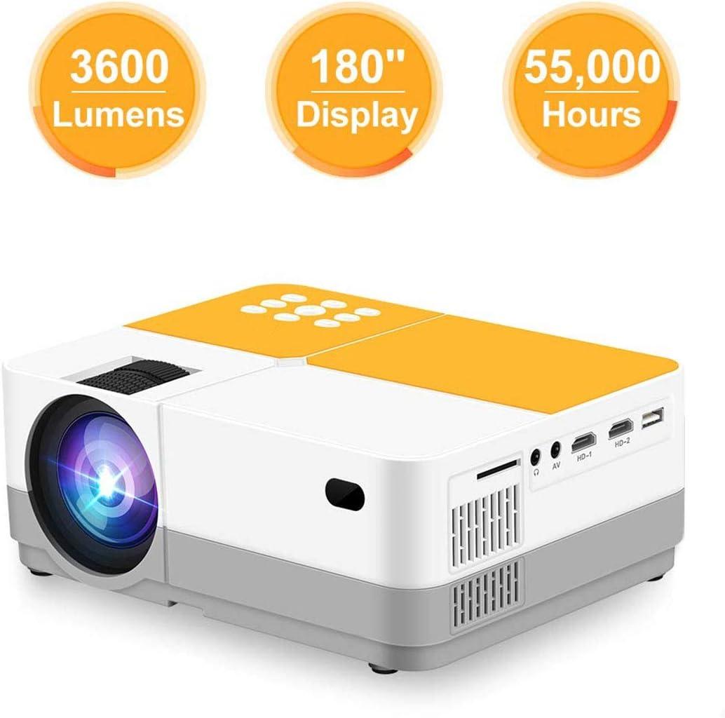 Proyector de Video 3600 lúmenes Nativo de 720P LCD Mini 180