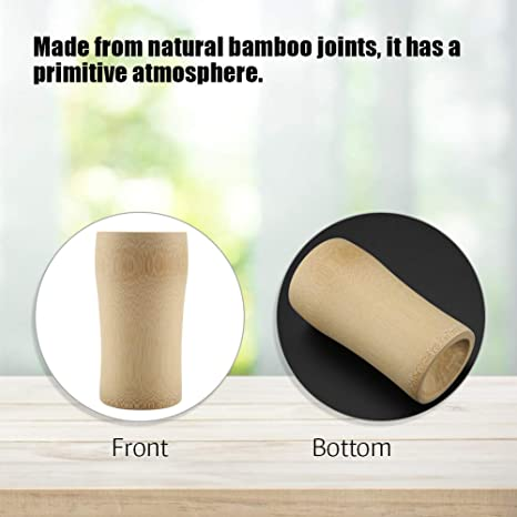 Natural Bamboo oint Wooden Tea Caddy Drinking Cup Beer Wine Tumbler Crafts Cups