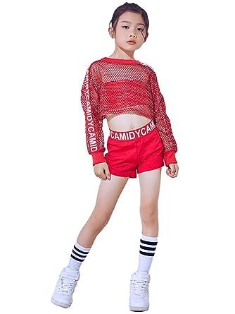 7add0d00709d LOLANTA Girls Jazz Tap dancewear outfit Crop Tops Shorts Hip hop ...
