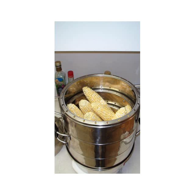 Secura 3 Tier 6 Quart Stainless Steel Electric Food Steamer, w/ Steam360 technology S 324