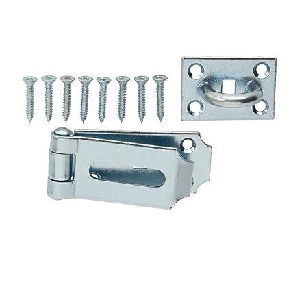 Everbilt 7-1/2 in Fixed Staple Hinge in Hasp Zinc - - Amazon com