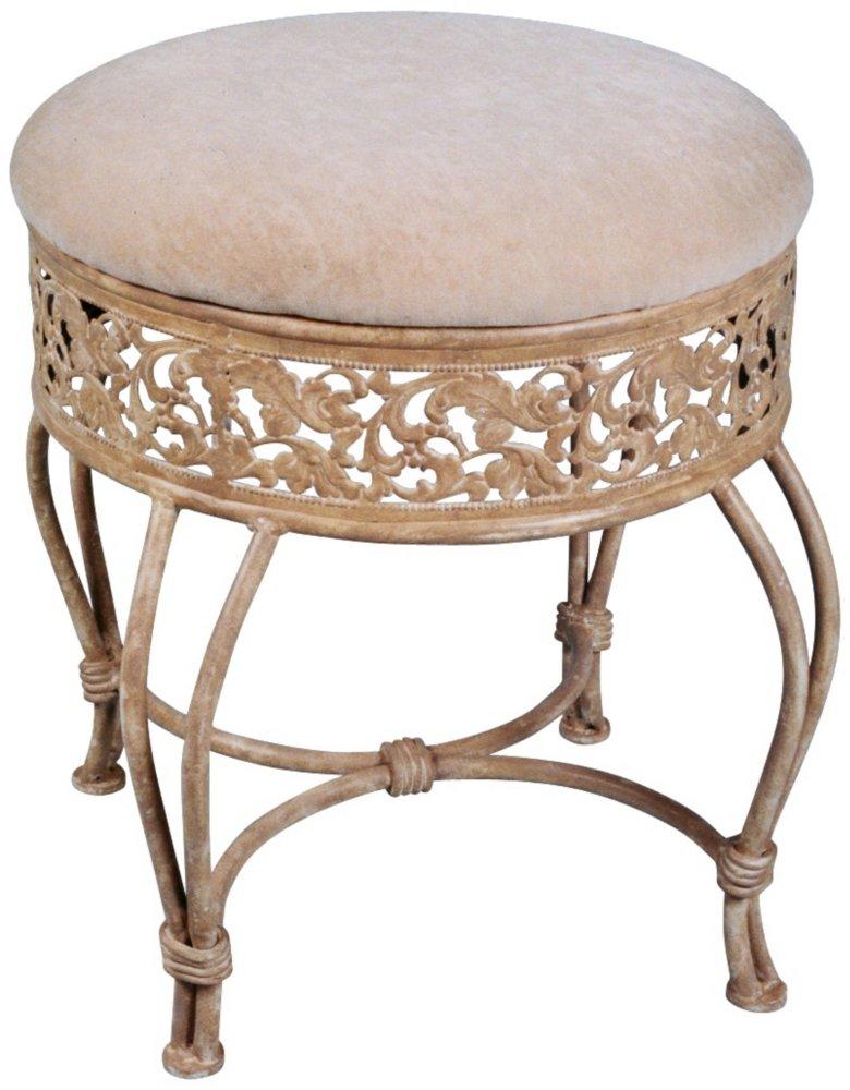 amazoncom hillsdale villa iii vanity stool antique beige kitchen u0026 dining