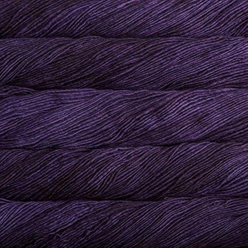 Merino Aran Yarn (Malabrigo Merino Worsted 30 Purple Mystery)
