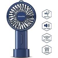 SAWAKE Ventilador de Mano USB 2600mAh Recargable, Mini Ventilador Portátil Eléctrico con…