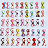 Blyyasgi Multi Color Puppy Dog Cute Hair Bows Hair Clips for Pet Grooming (10 Pcs)