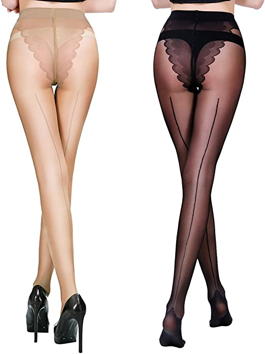 Womens 1 Pack Back Seam Tights Simply Be