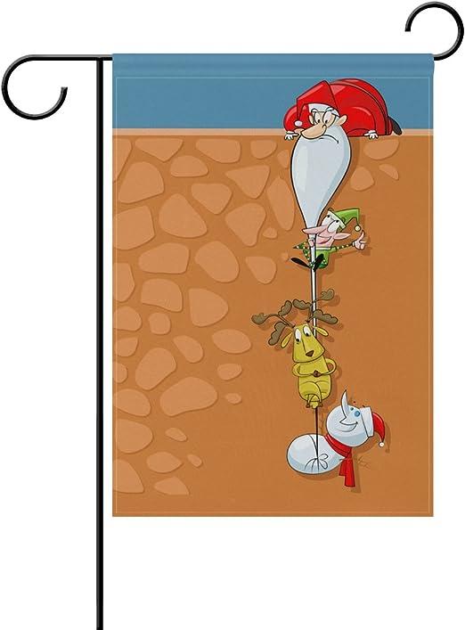 Doble cara Love muñeco de nieve y rojo Chickadee en Sonw poliéster casa jardín bandera Banner 12 x 18/28 x 40 pulgadas para todo tipo de clima para boda fiesta: Amazon.es: Jardín