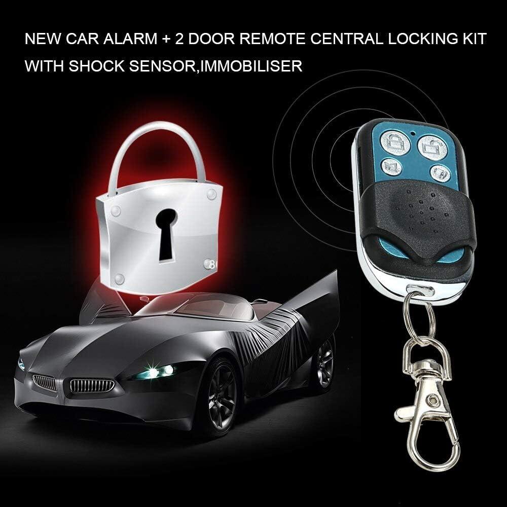 Coche alarma sistema de seguridad Control Remoto Bloqueo Central Kit Sensor de choque Immobiliser
