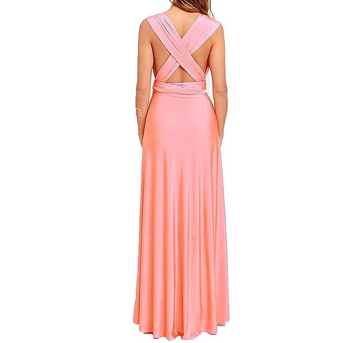 6eaea71d6186e Women Multiway Wrap Convertible Boho Maxi Dress Bandage Long Party ...