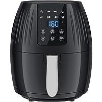 Freidora de aire, 5.8 cuartos de galón con receta, 5.5L Horno de aire caliente eléctrico y olla sin aceite para asar…