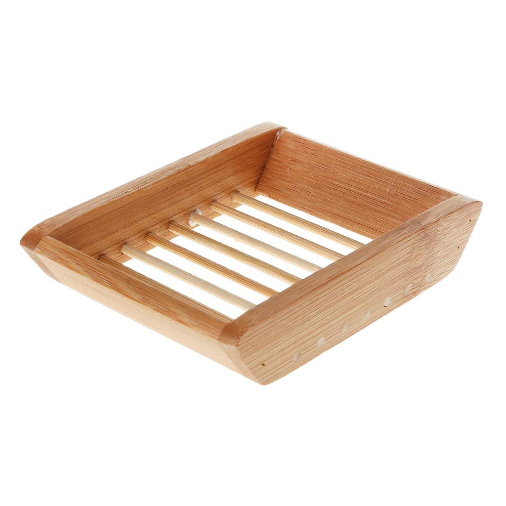 esponjas y m/ás Jabonera de bamb/ú Natural para jab/ón Rryilong
