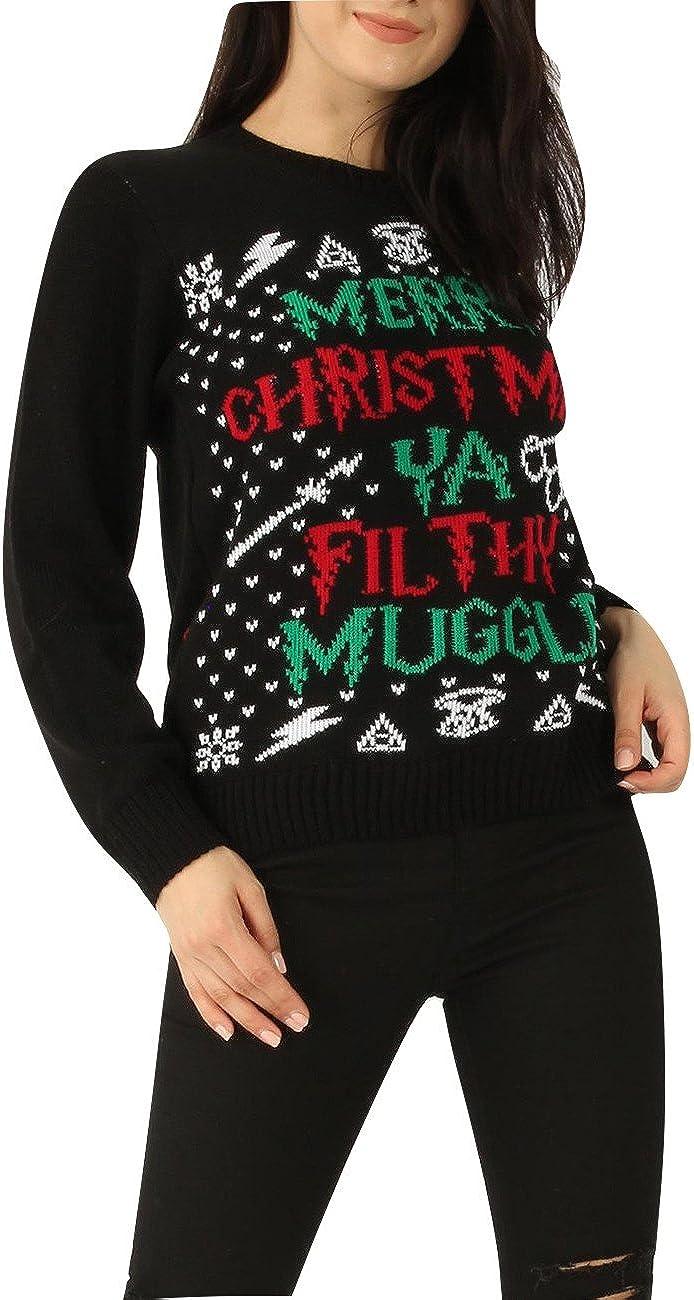 Naguhty CHRISTMAS elf Xmas T-shirt Filthy Muggle Joke Party funny Santa sleigh.