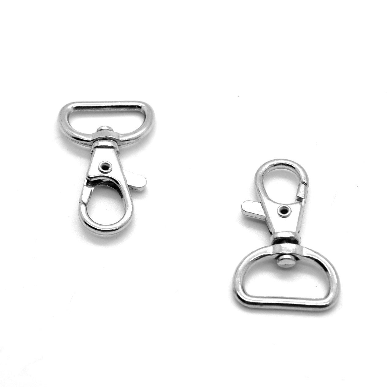 20mm Metal Bag Swivel Trigger Clips Snap Hook Dog Lead Webbing Strap Tape (1) Sola