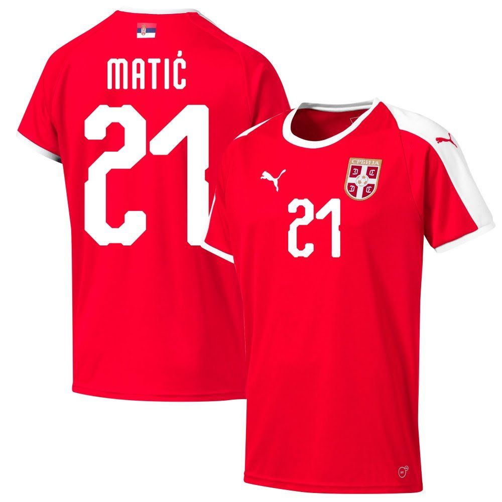 Puma Serbien Home Trikot 2018 2019 + Matic 21