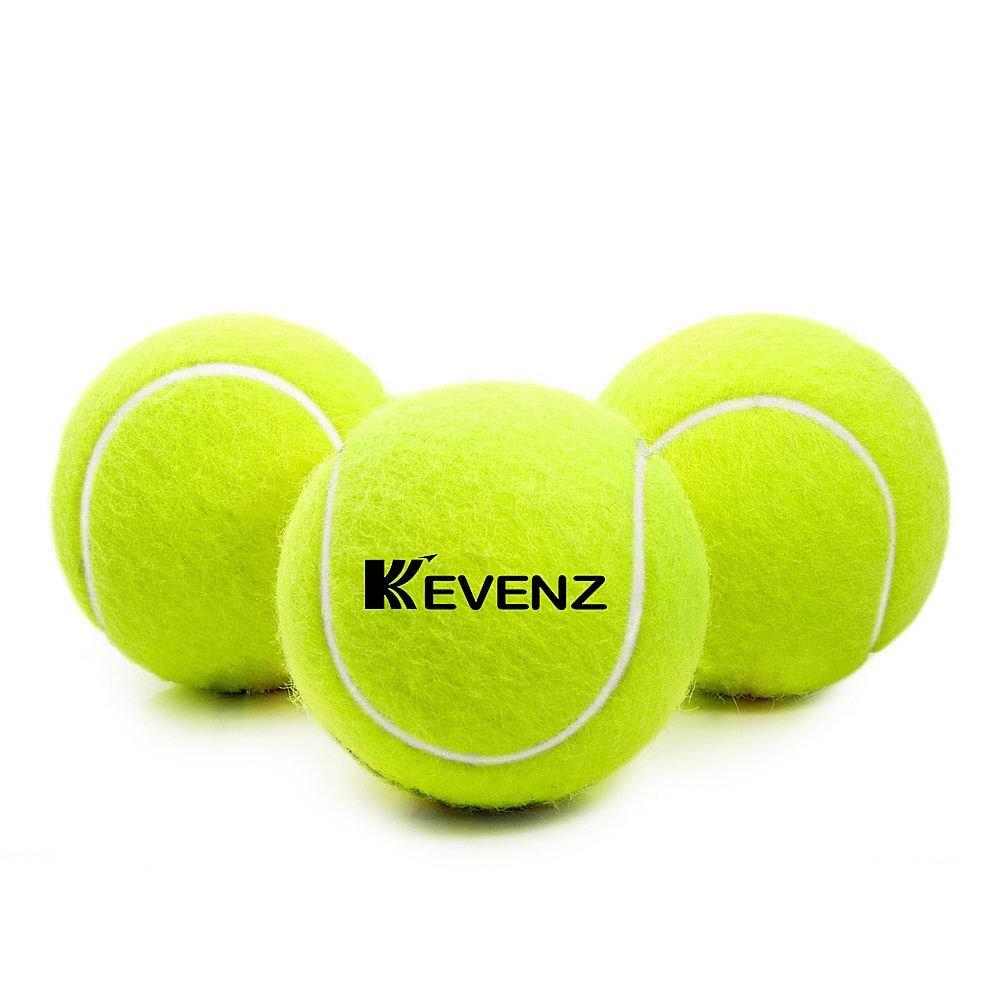 KEVENZ 24-Pack Green Advanced Training Tennis Balls,Practice Ball (Interlocked Wool Fiber) by KEVENZ (Image #3)