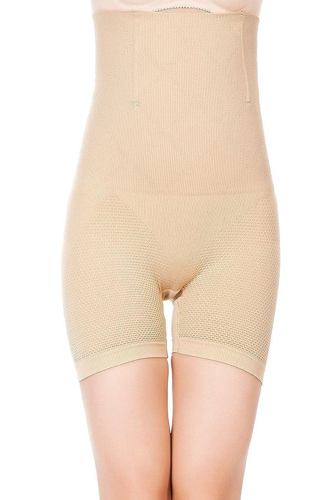 DODOING Damen Shapewear Figurformende Taillenhose mit Langem Bein Miederpants Butt Lifter Shaper Panty Y836-DEAB