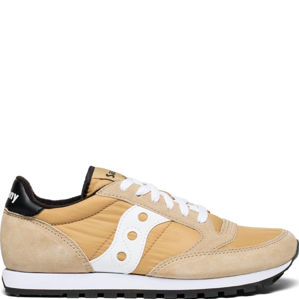Saucony Originals Women's Jazz Lowpro Sneaker, Tan/White, 9 M US