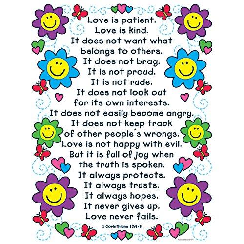 Carson Dellosa Christian The Love Verses Chart (6370)