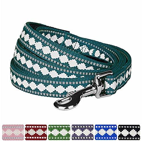 Blueberry Pet 7 Colors 3M Reflective Jacquard Dog Leash with Soft & Comfortable Handle, 5 ft x 3/4
