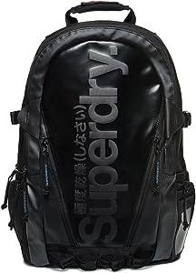 Superdry Men's Mono Tarp Backpack, black, One Size