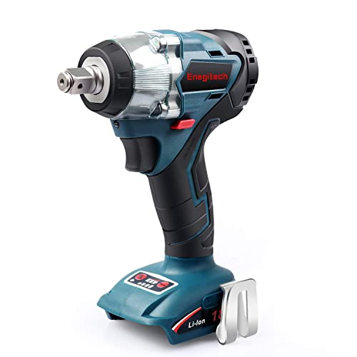 Enegitech 18V Cordless Impact Wrench Brushless, 4 Rev 1 2 Automatic Power Tool for Car Tyre, Work with Enegitech ETB1830B or Makita 18V Lithium-Ion Battery Tool Only