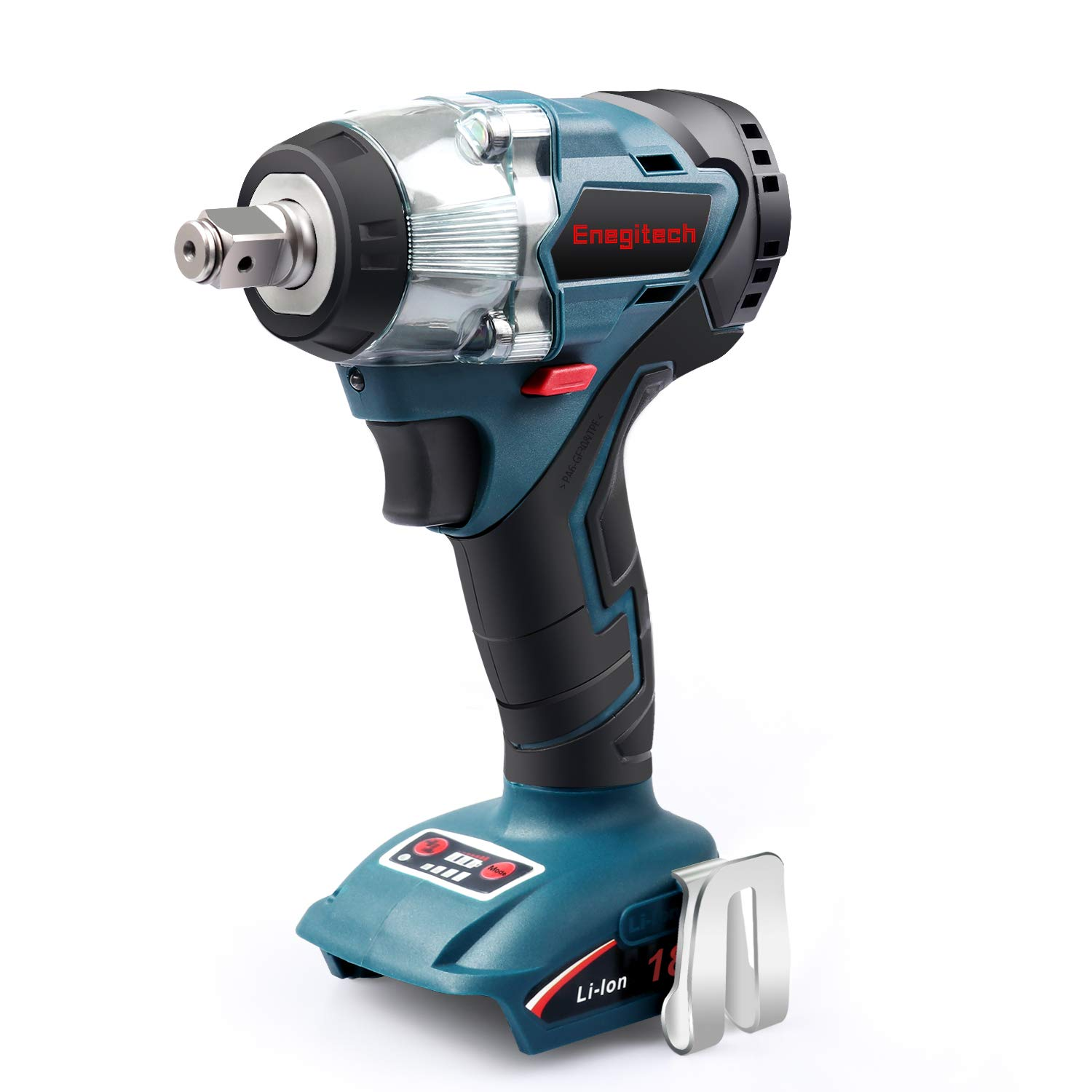Enegitech 18V Cordless Impact Wrench Brushless, 4 Rev 1/2'' Automatic Power Tool for Car Tyre, Compatible with Makita 18 volt Lithium-Ion Battery(Tool Only) by Enegitech (Image #1)