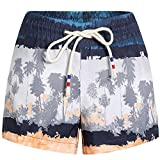 SSLR Women's Beach Shorts Swimming Casual Hawaiian Aloha Board Shorts (30, Blue Grey)