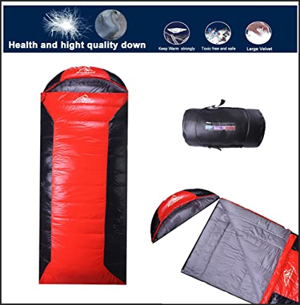 RioRand ultraligero acampar abajo saco de dormir al aire libre impermeable sobre con bolsa de compresión